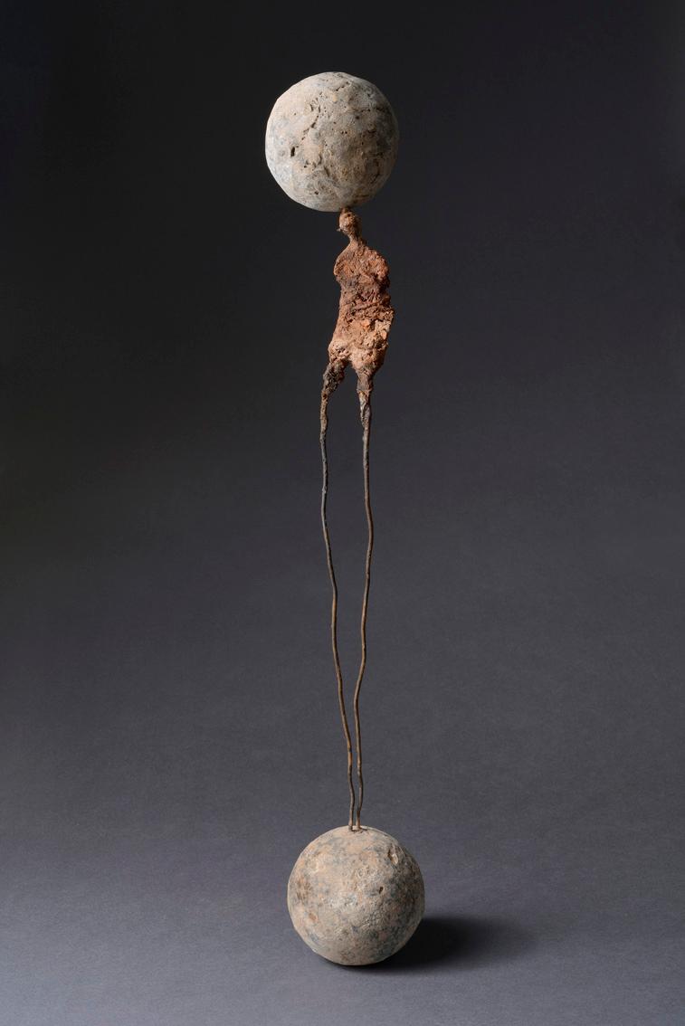 Équilibre, technique mixte (82 cm de haut)
