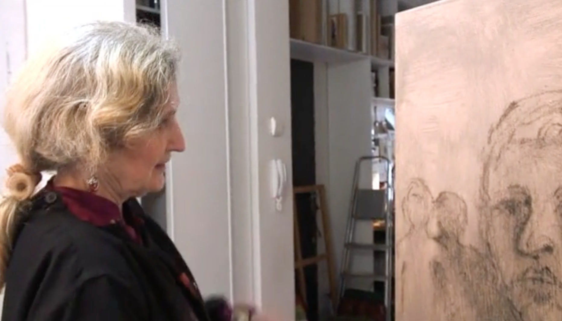 Elisabeth Walcker, Dessin peinture (capture d'écran), vidéo