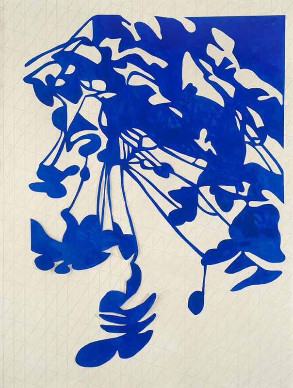 Feuiller 2, acrylique sur papier (186.5 x 140.5 cm)