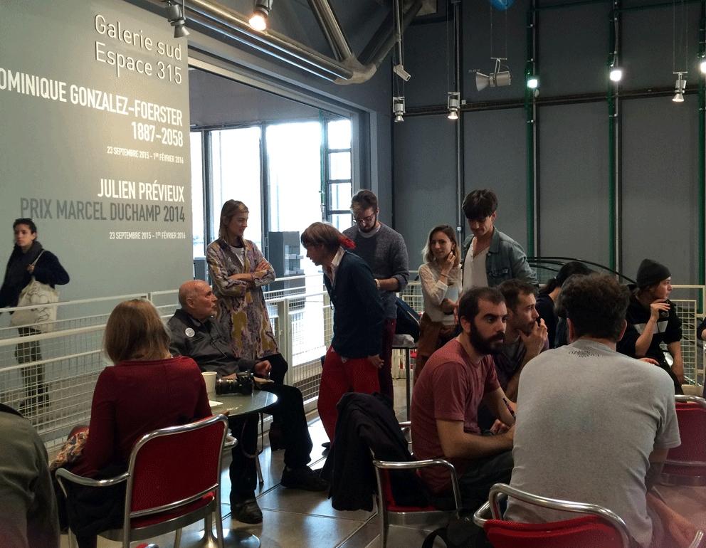 Quelques minutes avant le début de la performance OSI au Centre Pompidou, le dimanche 1er novembre 2015