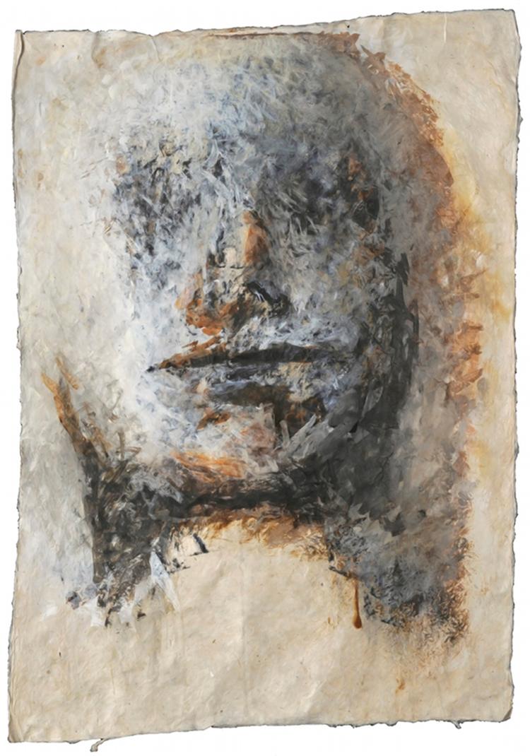 Figure 9, papier népalais (65 x 50 cm)