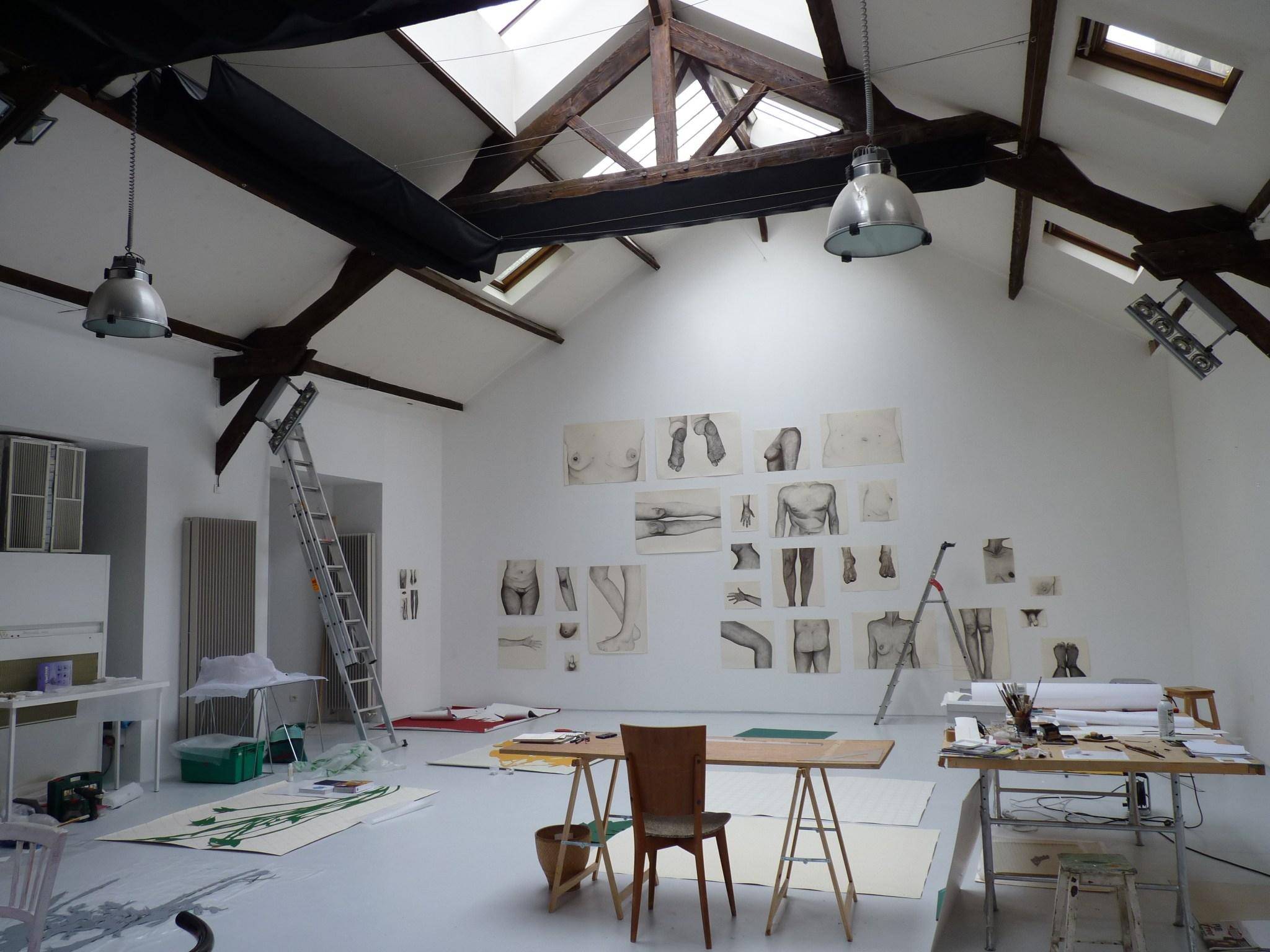 Vue de l'atelier de l'artiste || 2013