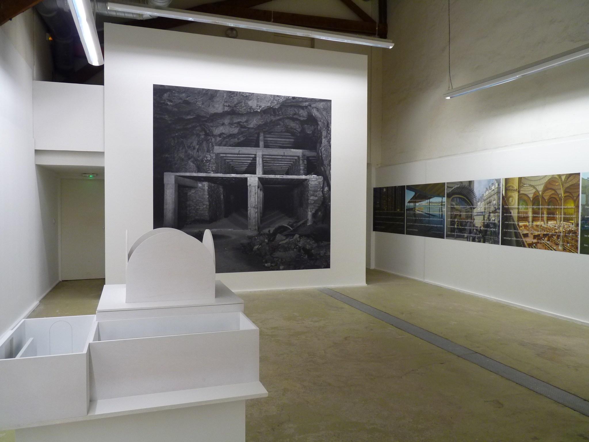 Vue de l'exposition Topoï, au CPIF (Pontault-Combault)