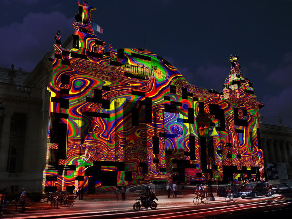 L'Origine du Monde (vue d'artiste), installation de réalité@virtuelle générative, Art Paris Art Fair