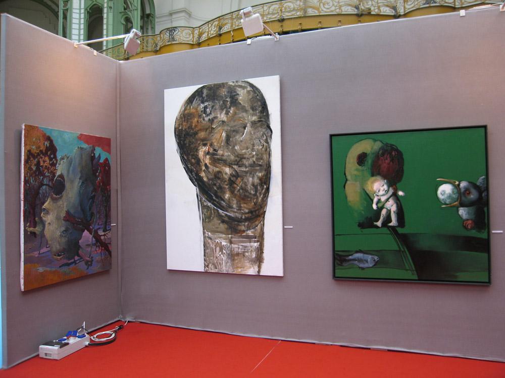 De gauche à droite, des œuvres signées par Nicolas Canu, Béatrice Englert et Jörg Hermle