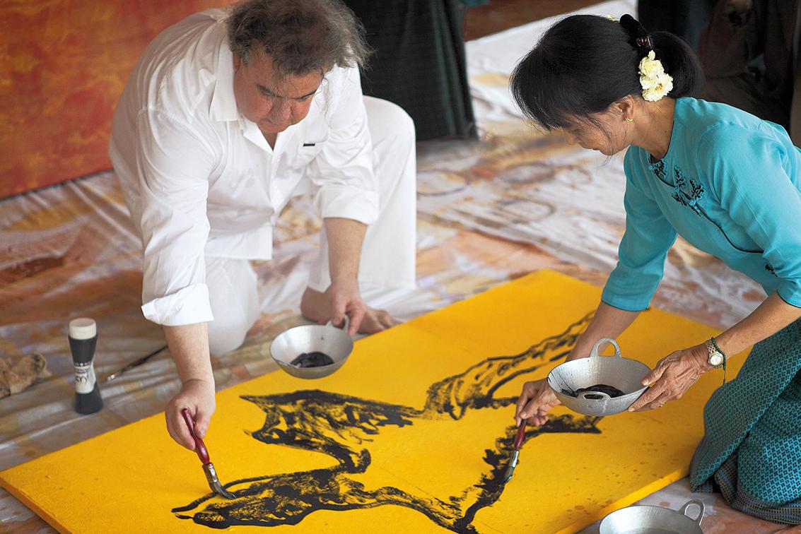 Aung San Suu Kyi et @Richard Texier à Rangoon