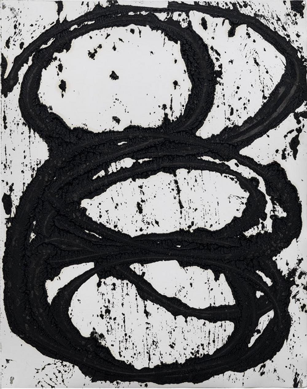 July #7, paintstick on handmade paper @ (116.8 x 94.3 cm)
