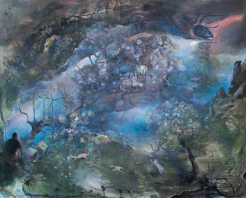 La source des Rêves, huile sur toile (97 x 163 cm)