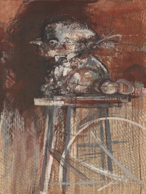 Le pas fini, huile sur toile (130 x 97 cm)