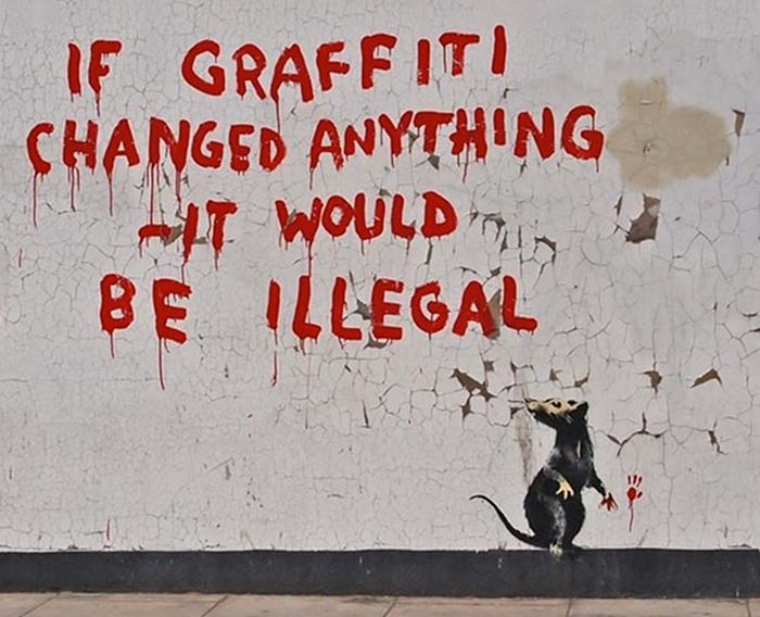 Sur un mur de Londres