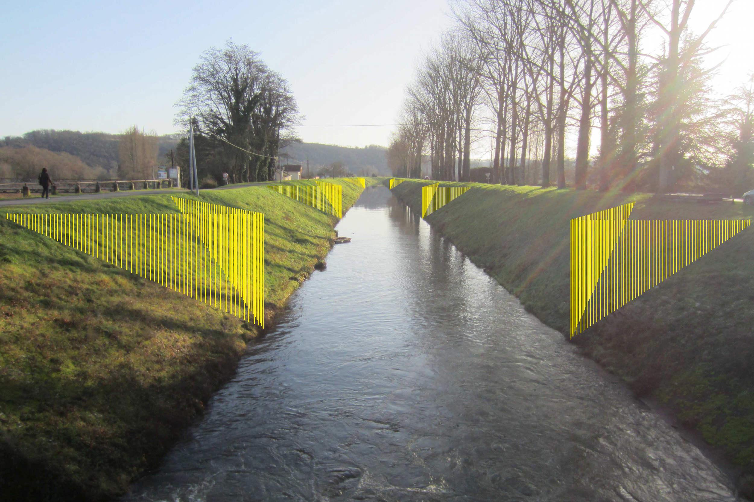 Avant-projet pour le canal de Lalinde