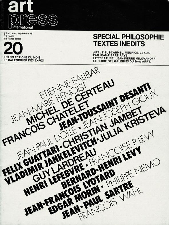 N°20 |  | Juillet 1978