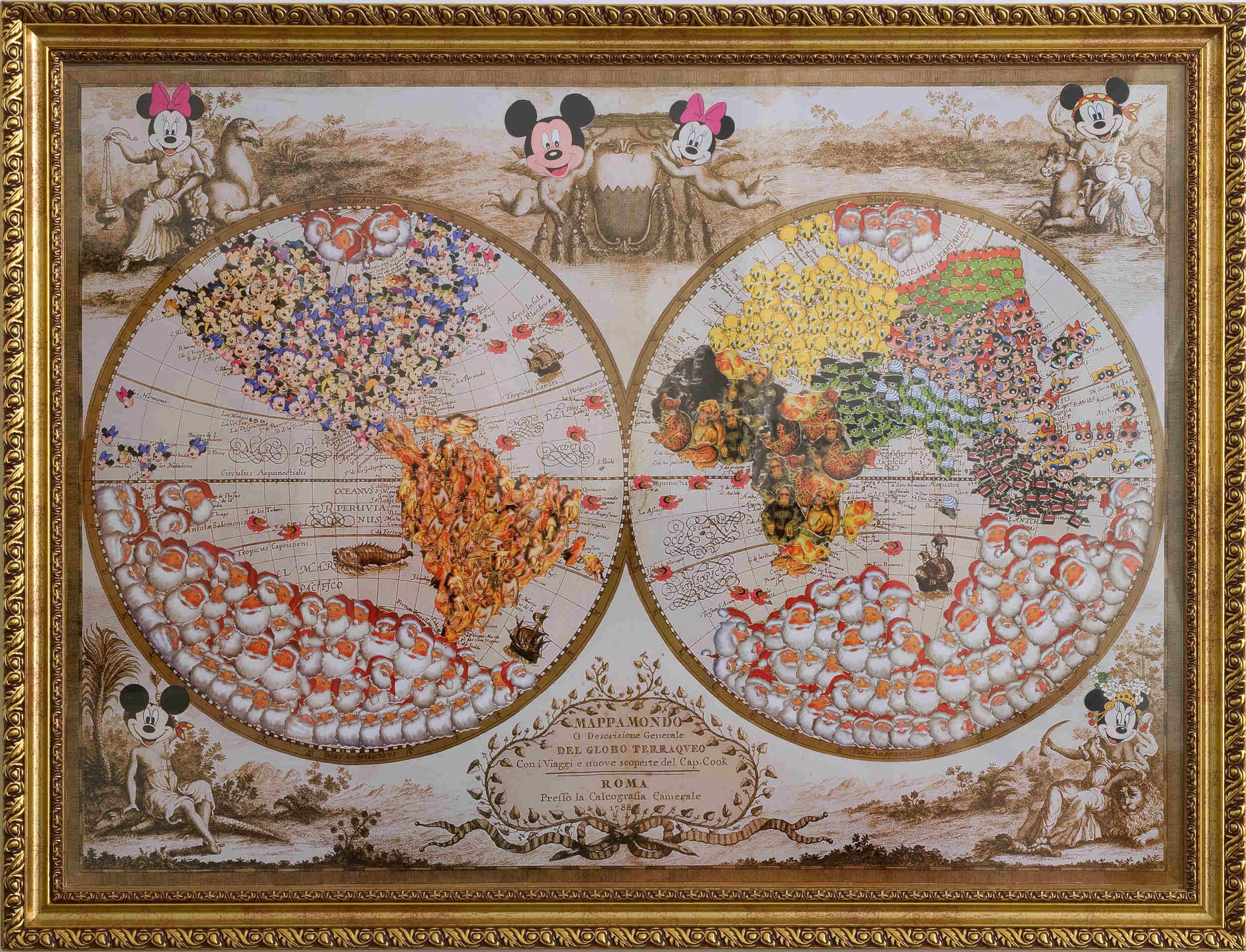 Mapa 2, tirage photo encadré (114 x 155 cm)