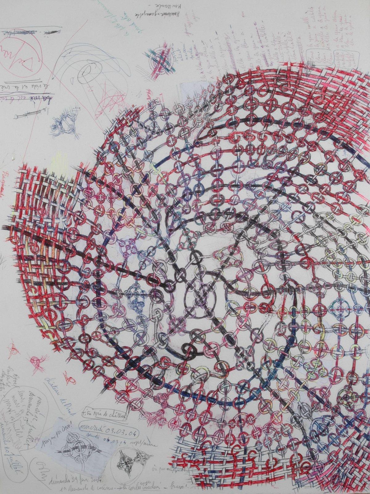 Vie de château, techniques mixtes@sur papier (65 x 50 cm)