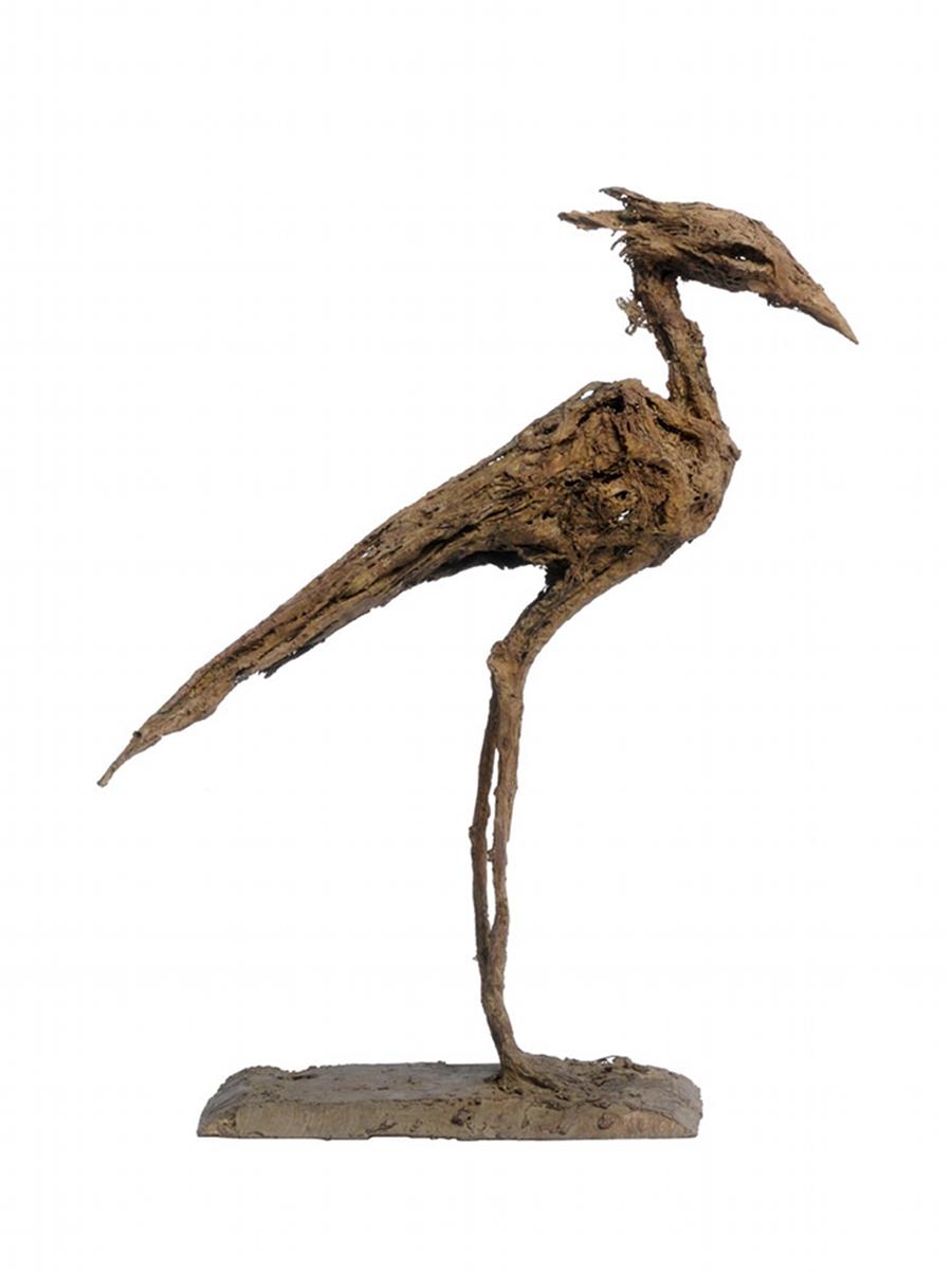 Oiseau, bronze, pièce unique (27 cm de hauteur)