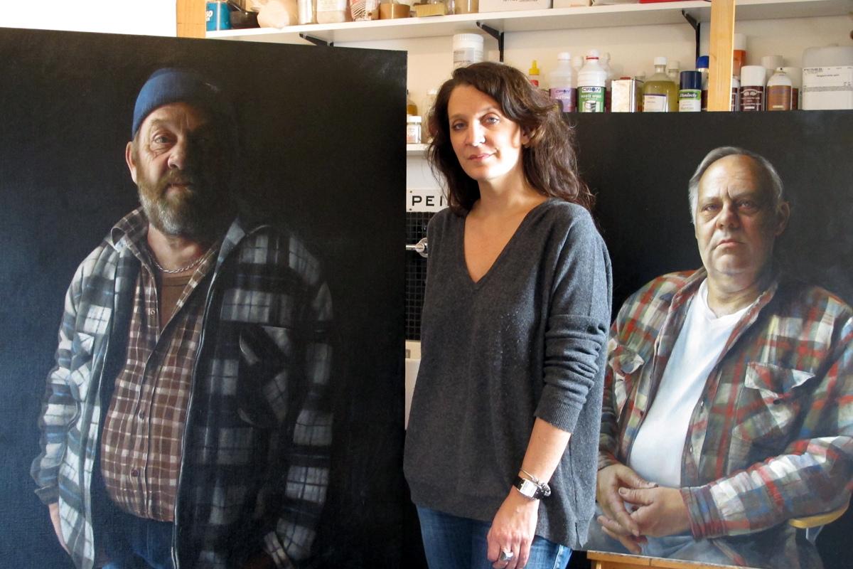 Anne-Christine Roda dans son atelier || 2013