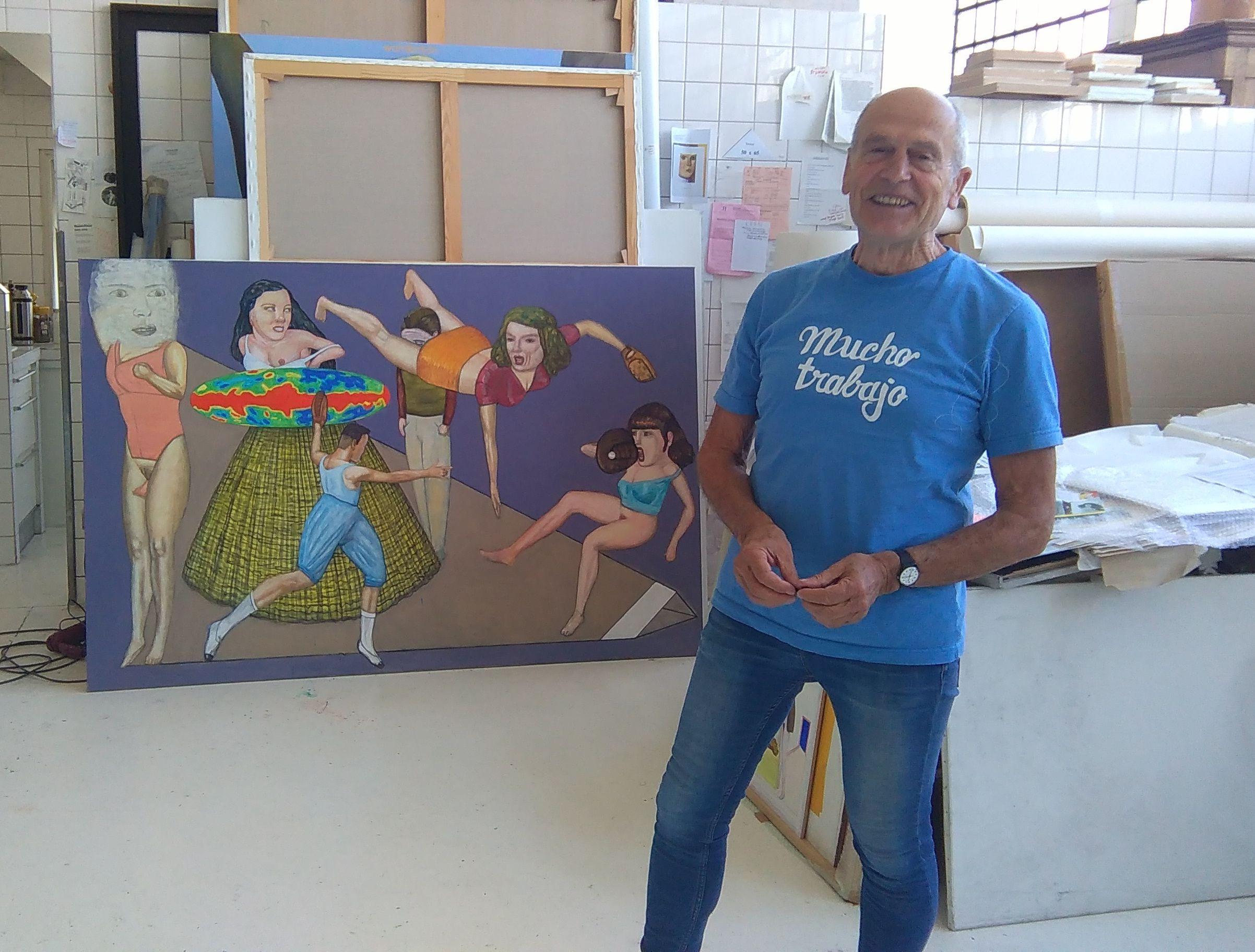 Pat Andrea dans son atelier | |
