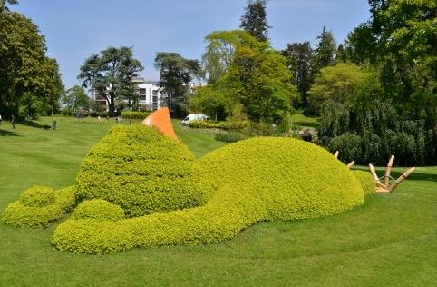 Le massif du poussin endormi, au Jardin des plantes de Nantes