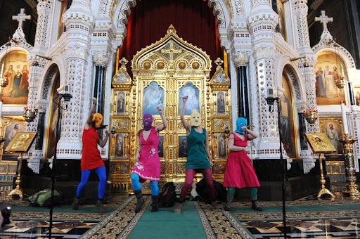 performance dans@l'église du Christ Saint-Sauveur@à Moscou