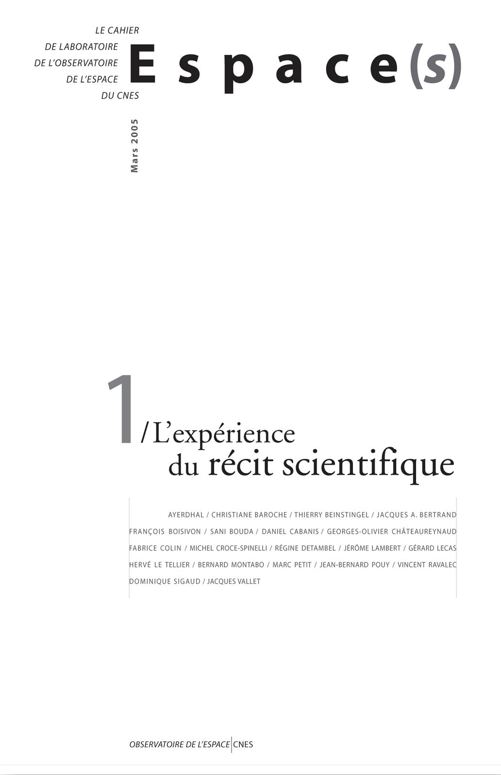 L'expérience du récit scientifique
