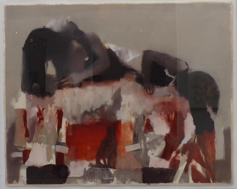 Red Enfold, huile sur papier (122 x 152 cm)