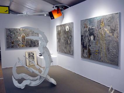 Peintures d'Eudes Menichetti @et sculpture d'Eric Angenot