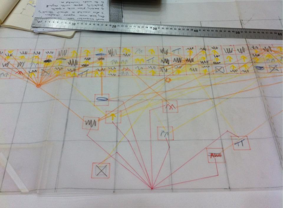 Croquis préparatoire@au projet At Intervals
