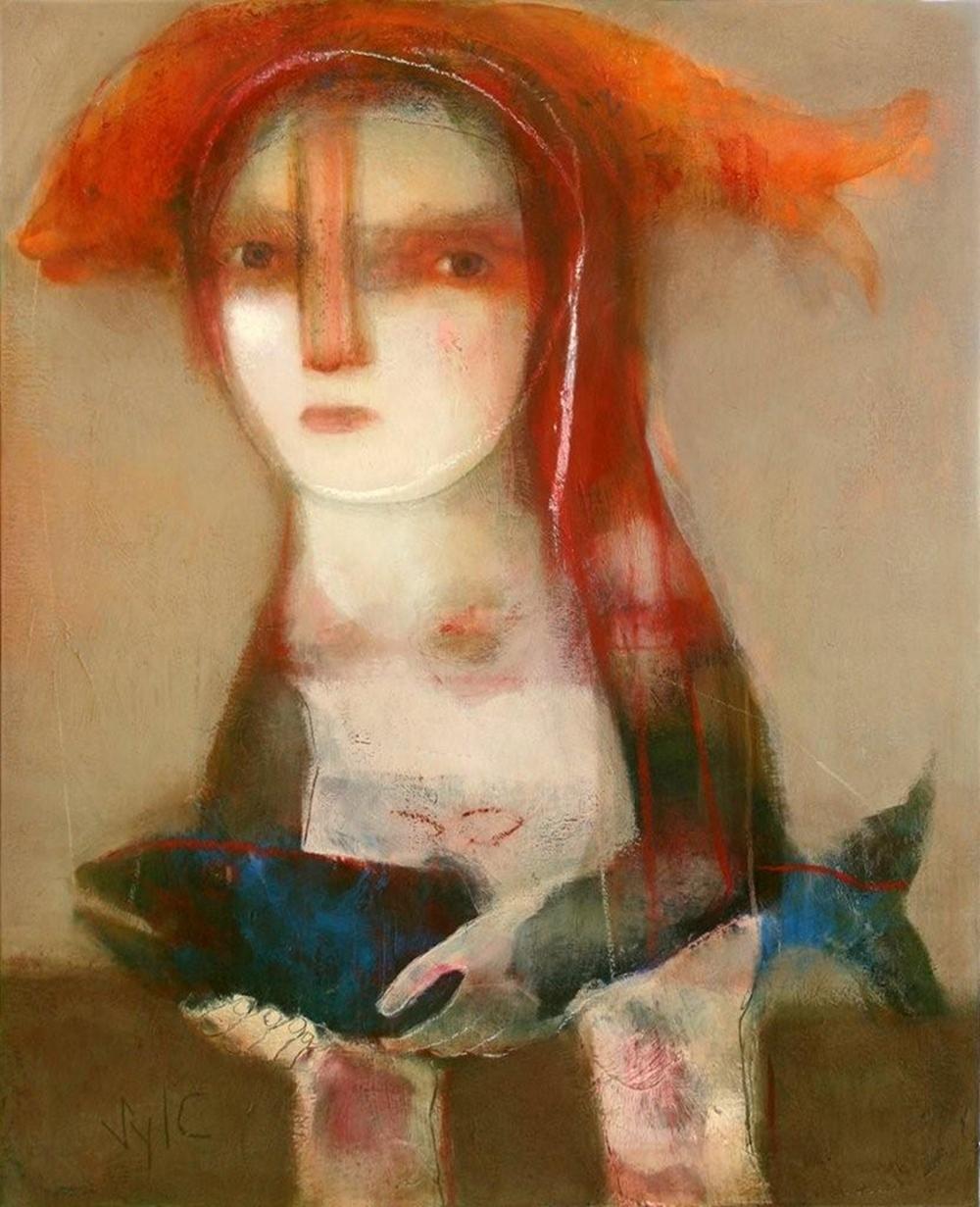 Fertile, technique mixte sur toile (100 x 81 cm)