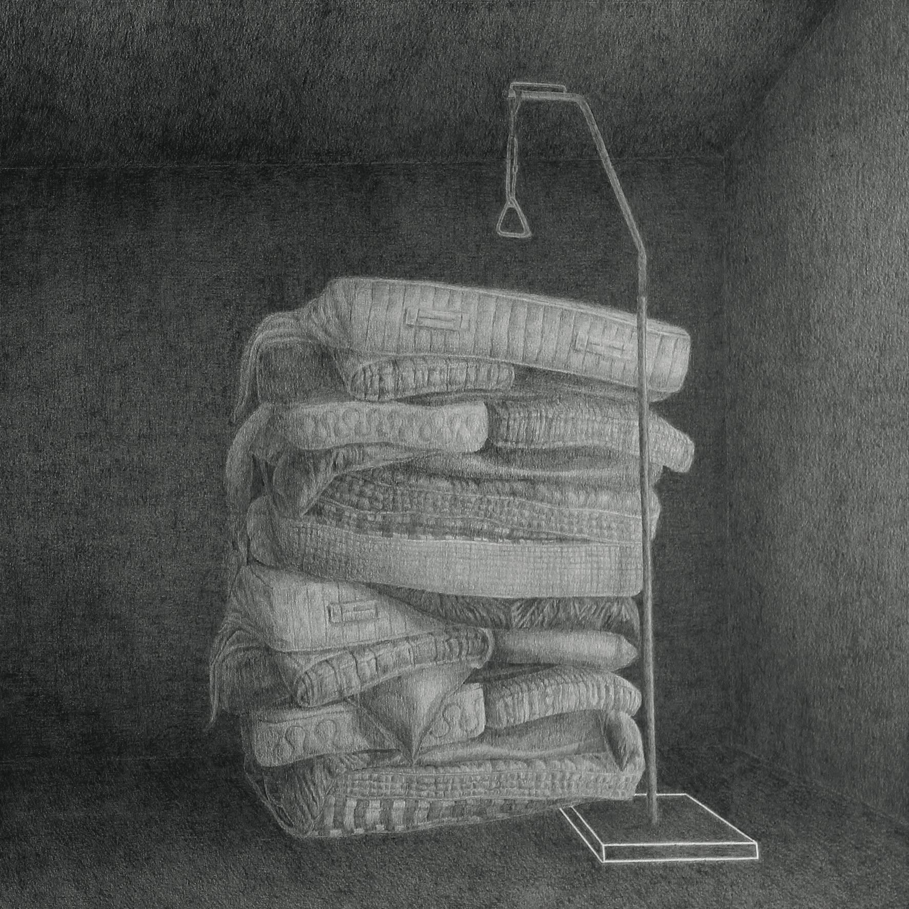Lotophages, graphite sur papier@(42 x 42 cm)