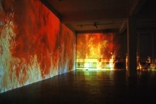 Keep it burning, installation vidéo