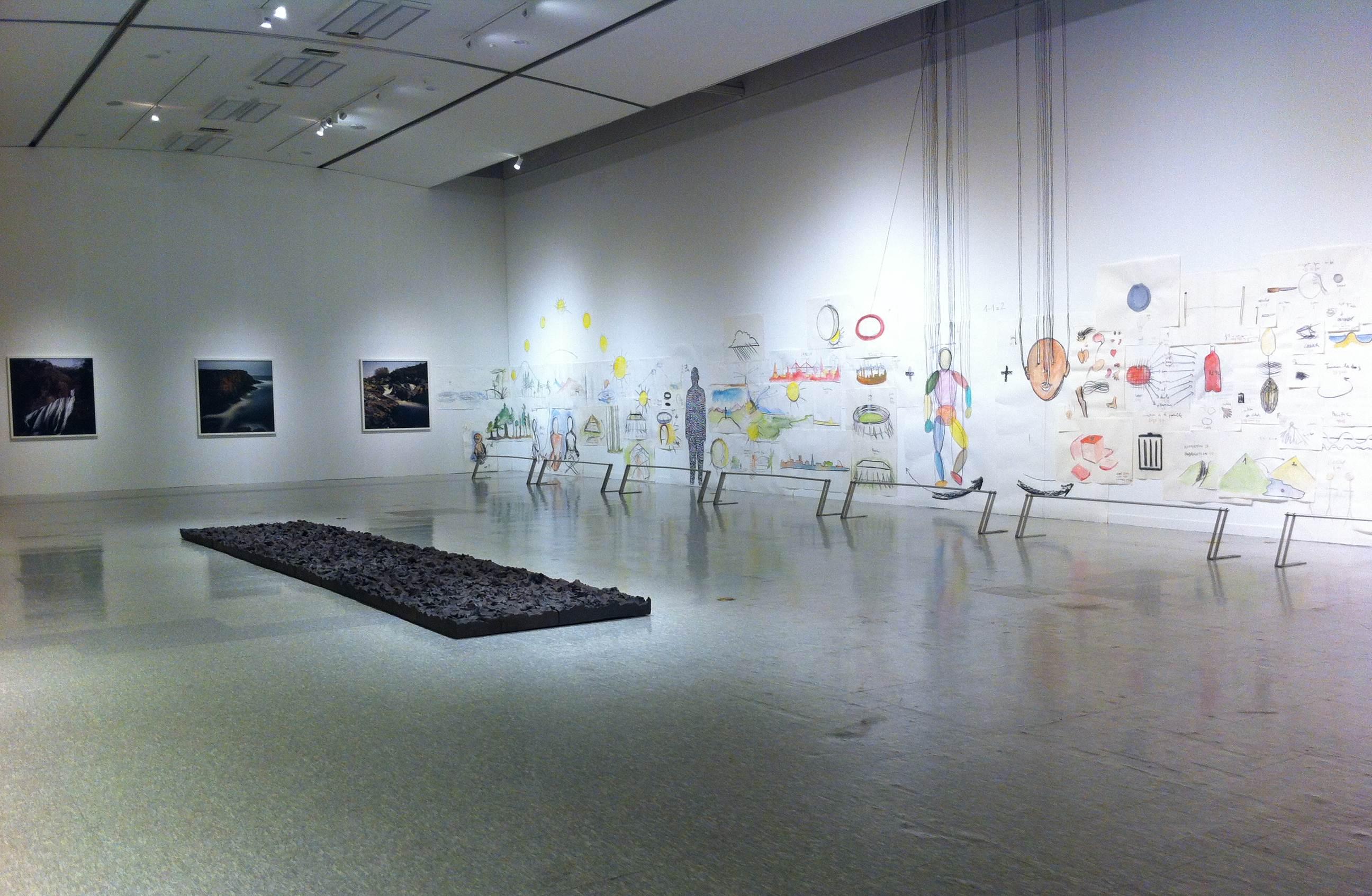 Vue de l'exposition Inhabiting the World, à Busan