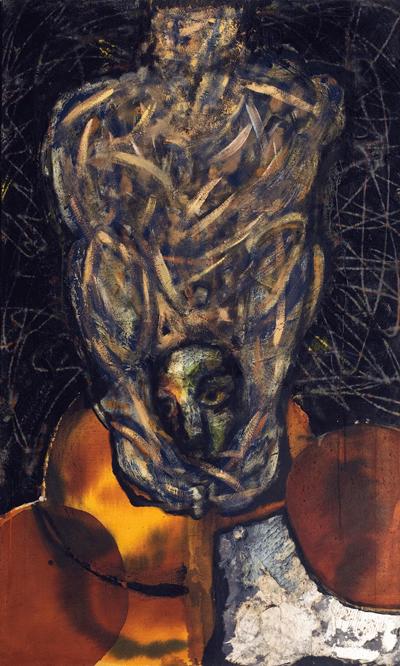 Le bourreau expressionniste, (162 x 97 cm),
