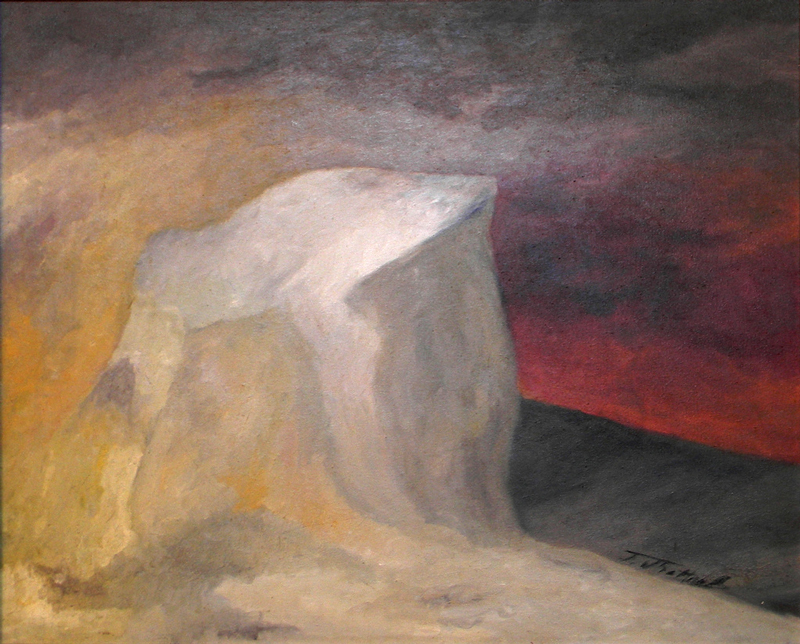 Huile sur toile, 82 X 66 cm