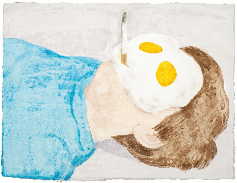 Breakfast, aquarelle sur papier@(29 x 38 cm)