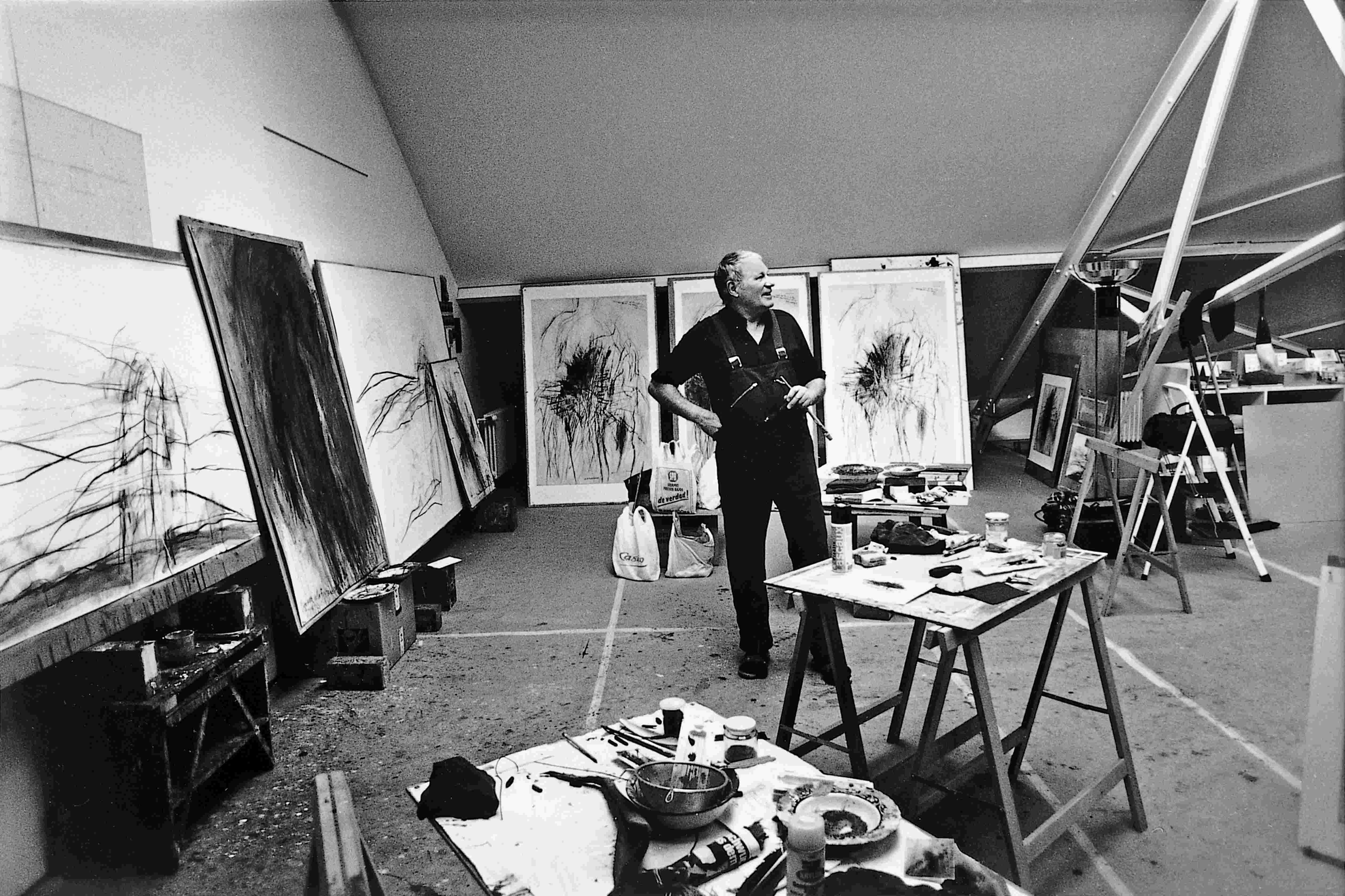 Rolf Iseli dans son atelier