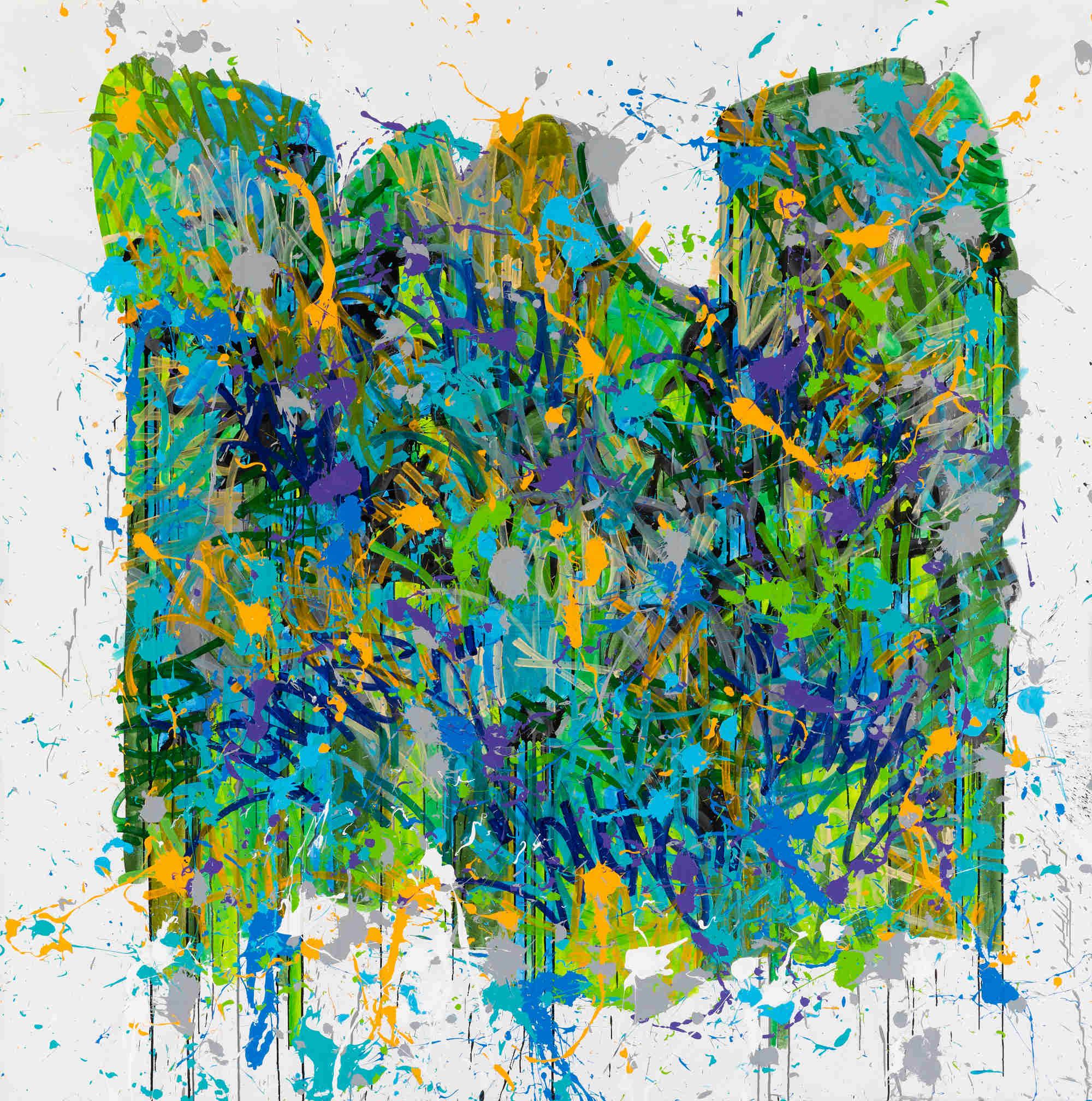 Waves, acrylique sur toile (170 x 210 cm)