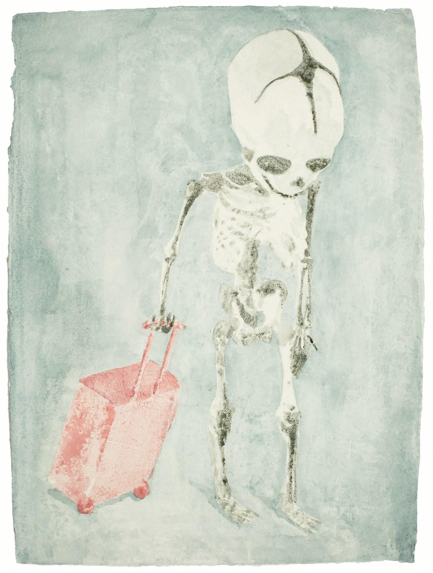No Home, aquarelle sur papier@(77 x 57 cm)