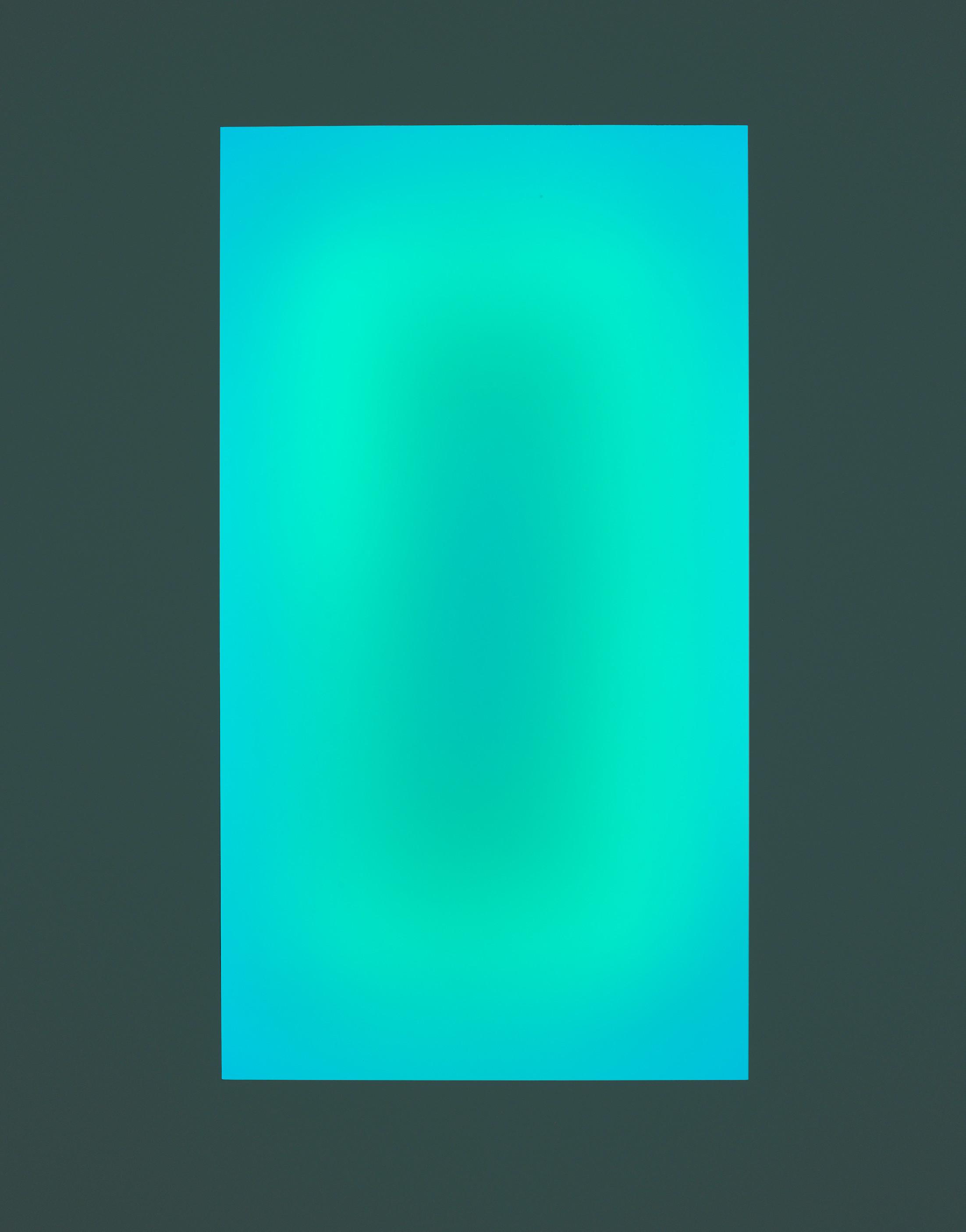 Sensing Thought, bois, plexiglas, installation de néons informatisée