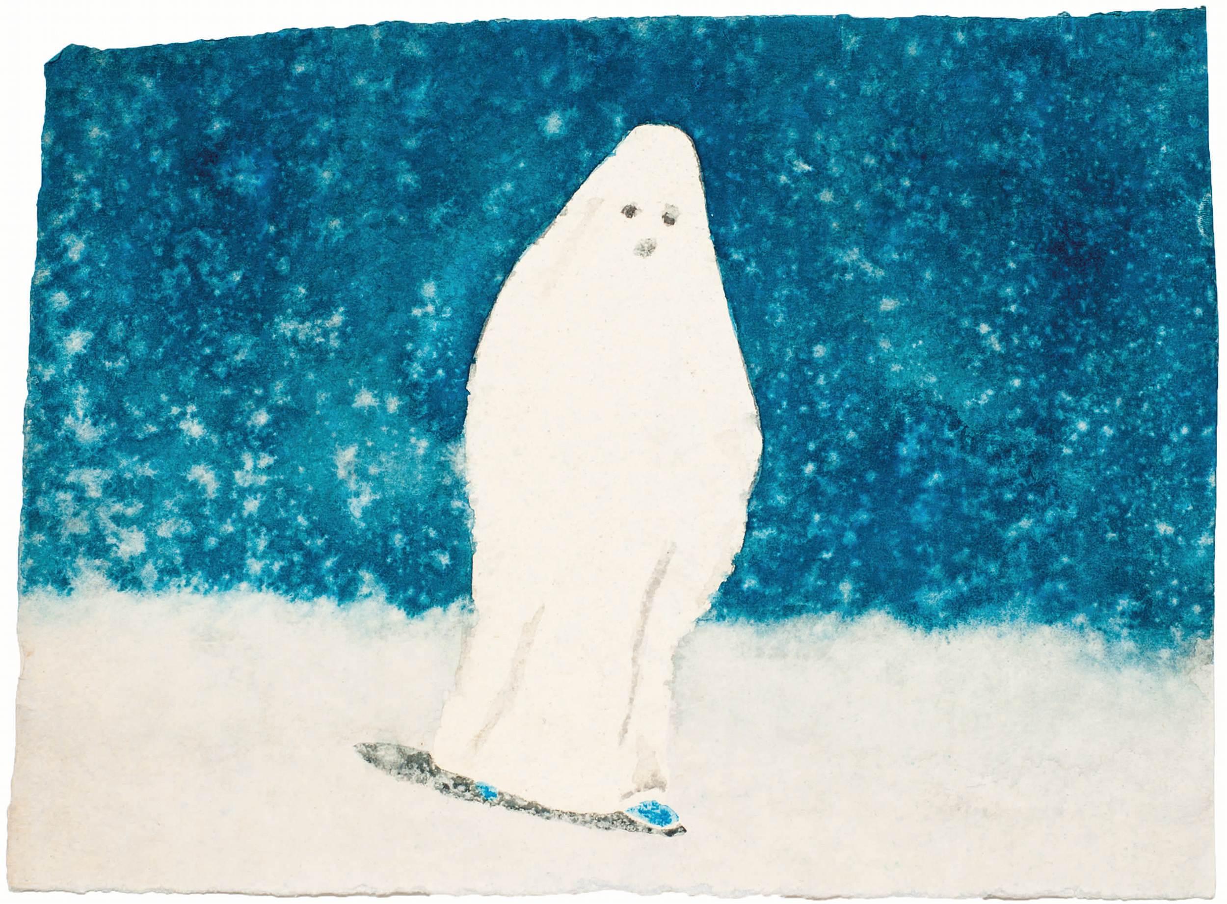 Small Ghost, aquarelle sur papier@(28 x 38 cm)