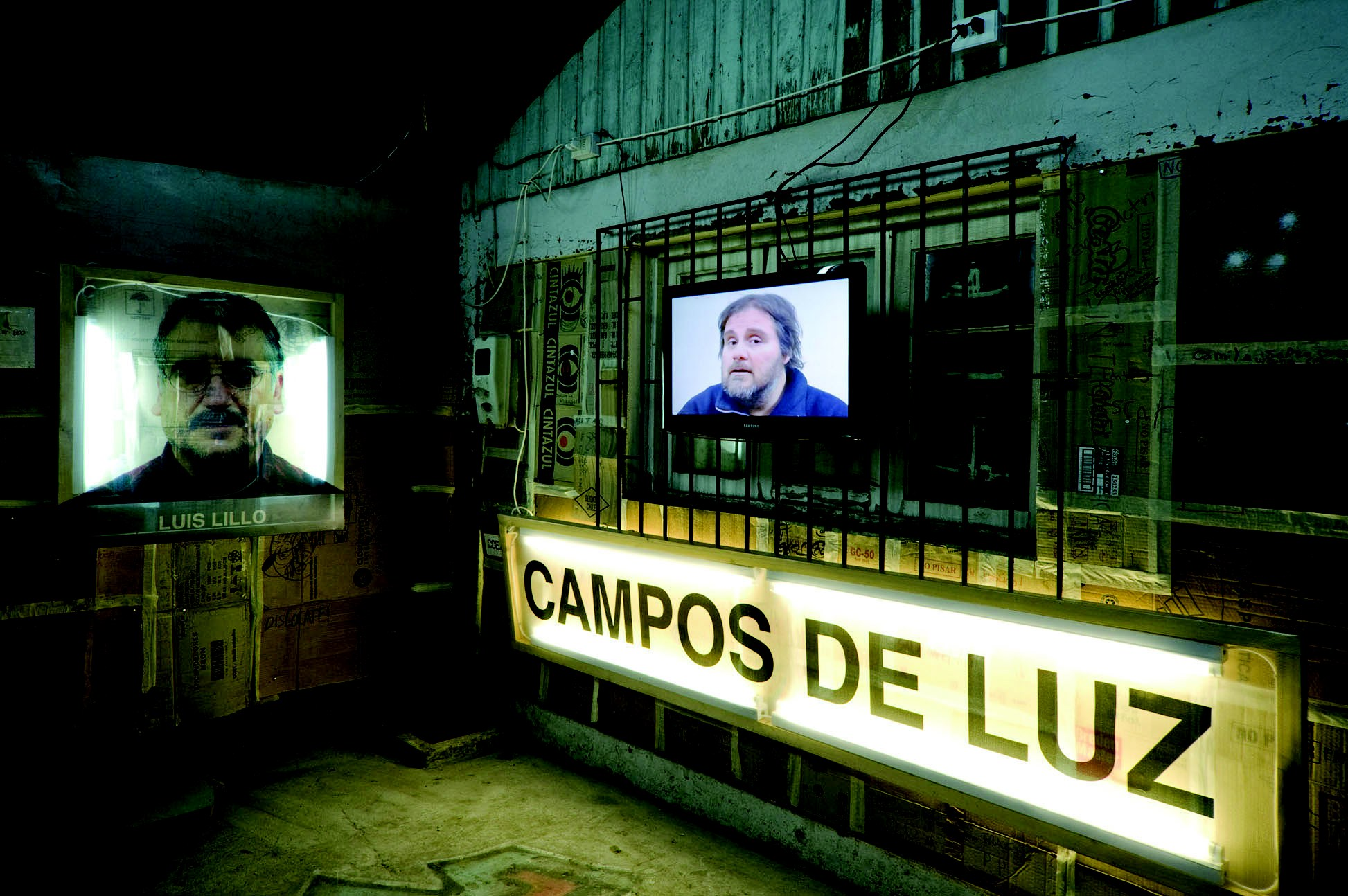 Campos de luz, installation multimédia