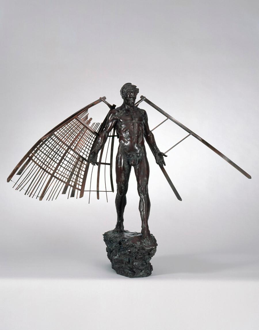 Homme ailé, bronze
