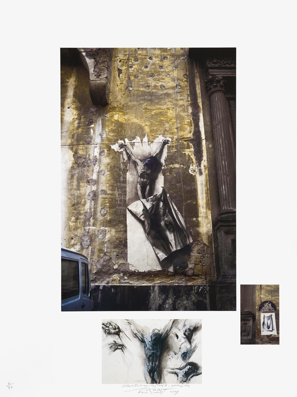 Crucifixion Mithra (Naples 1990), estampe numérique pigmentaire, 40 exemplaires, (80 x 60 cm)