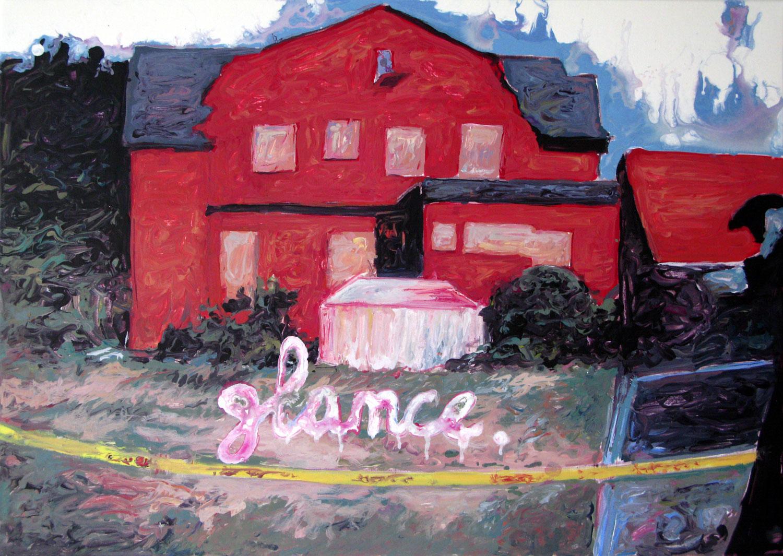 Glance, peinture acrylique sur toile, (50 x 70 cm)
