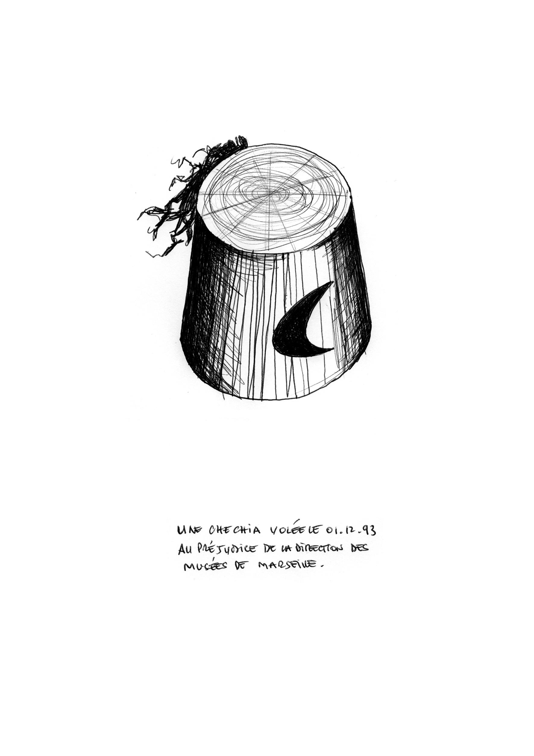 Further replica – @Tout ce dont je me souviens, série de 36 dessins (21 x 29,7)
