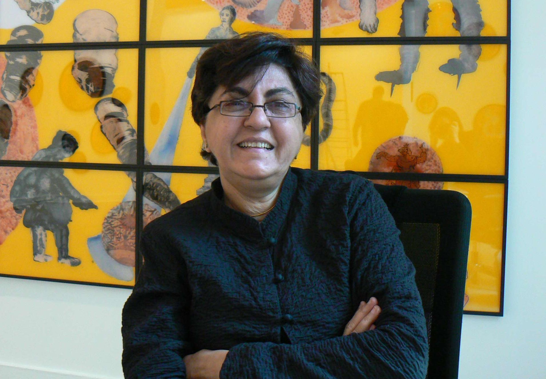 Nalini Malani, à l'arrière plan Cassandra