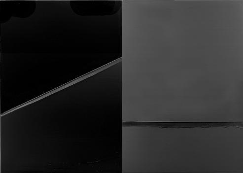 Peinture ( 222 x 314 cm ), 24 février 2008 Diptyque ( 2 éléments, 222 x 157 cm – superposés )
