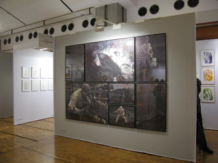  Dessins de Paul Pouvreau réalisés@ pour la galerie Les Filles du calvaire@ au salon du dessin contemporain 2010  