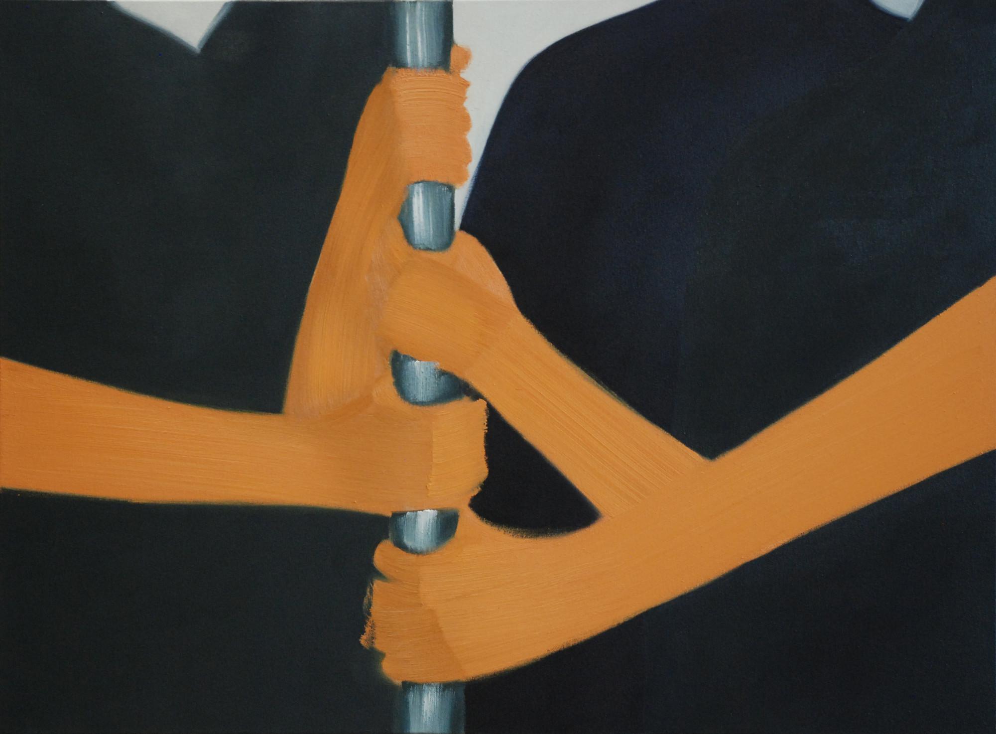 Rush Hour, série Modern Life, huile sur toile (60 x 81 cm)