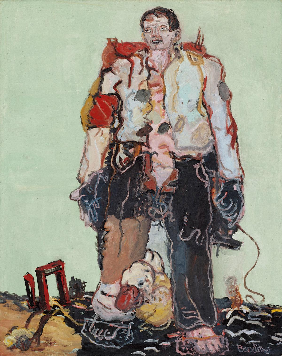 Le Berger, huile sur toile (162 x 130 cm)