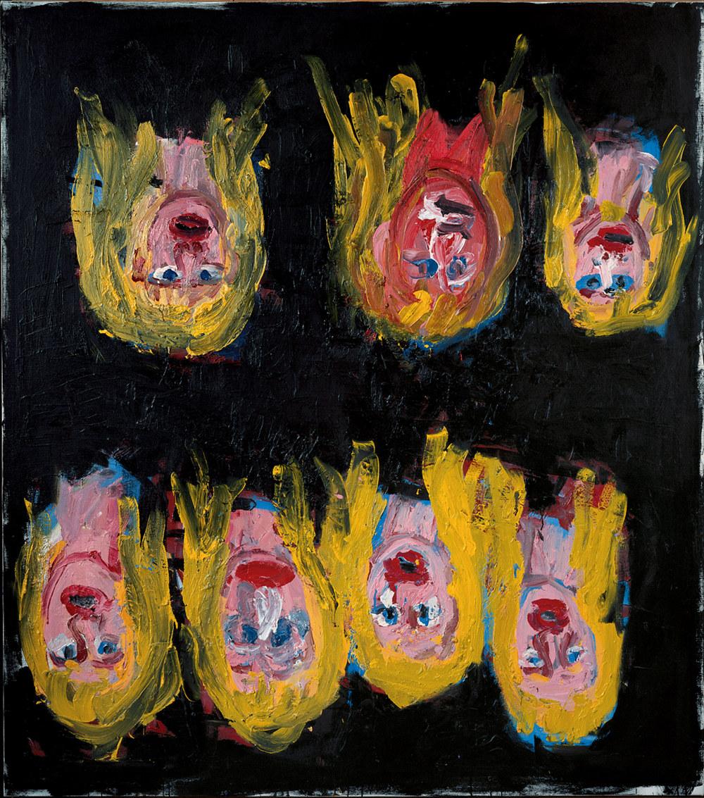 Sieben mal Paula, huile sur toile (195 x 172 cm)